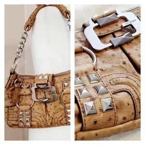 Guess | Studded Crocodile Leather Shoulder Bag